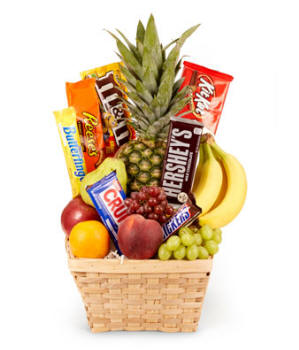 Hawaii Fruit and Candy Basket