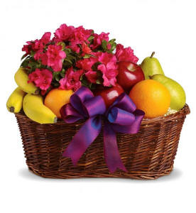 Fruit and Flowers Gift Basket $54.95