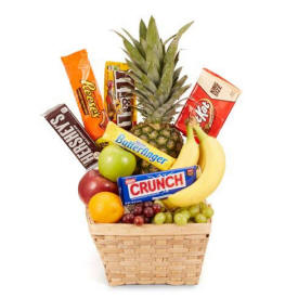 Farmington Fruit & Candy Basket $49.99 Same Day Delivery
