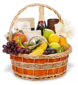 Fruit & Champagne Basket $144.95