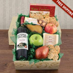 Fruit & Cheese Wine Gift