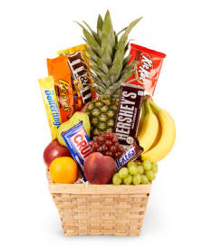 Fruit & Chocolate Gift Basket $44.99 Same Day Delivery