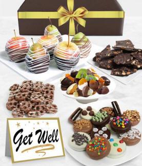 Get Well Chocolate Fruit Gift Basket