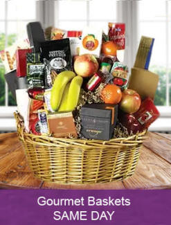 Gourmet gift baskets, meat cheese sausage - Delivered the same day
