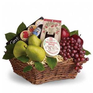 Sympathy Gourmet Fruit Gift Basket