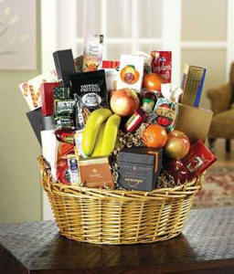 Large fruit and gourmet gift basket for same day delivery