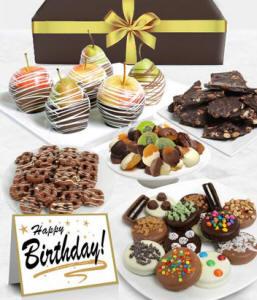 Happy Birthday Chocolate Fruit Gift Tower