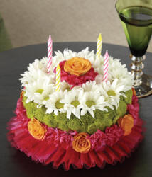 Happy Birthday Flower Cake Delivery To Glasgow