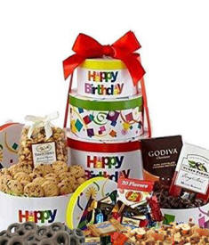 Happy Birthday Cookie Tower $62.99
