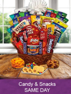 Chocolate Candy Snacks And Junk Food Birthday Gift Baskets