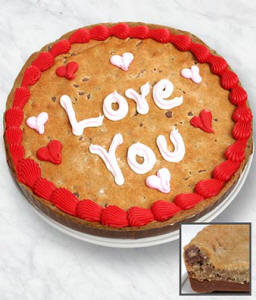 I Love You Cookie Bark Cake