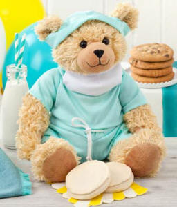 Mrs Fields Cookies and Get Well Soon Teddy Bear