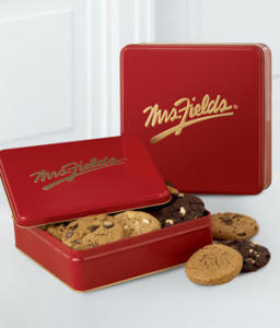 Mrs Fields Famous One Dozen Cookie Tin