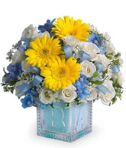New Baby Boy Flower Bouquet