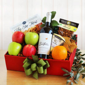 Organic Fruit Wine Basket