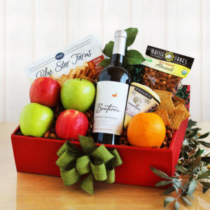 Organic Fruit And Wine Gift Box $75.00 Oklahoma Delivery