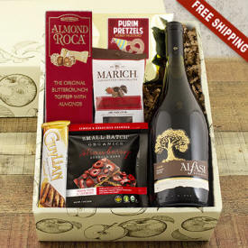 Purim Pinot Noir Wine Gift Basket