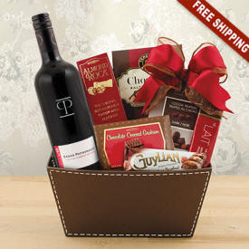Avalon Wine & Chocolate Gift Basket