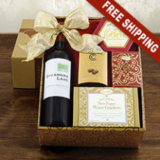 Red Wine & Snacks Gift Basket