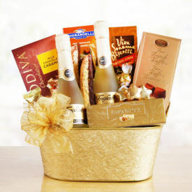 Sparkling Delight Wine Basket