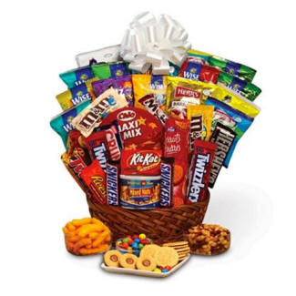 Super Sweet Gift Basket Candy Junk Food Snacks Chocolate