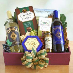 Tasting & Toasting Wine Gift Basket $75.99