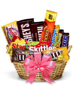The Sweetest Candy Basket - Pink