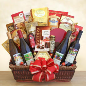 Ultimate Gourmet Wine Gift Basket