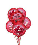 Valentines Day Balloons I Love You