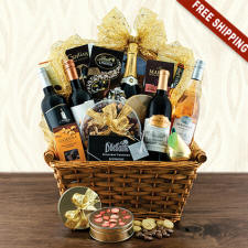 Wine & Champagne Gift Basket New Jersey Delivery